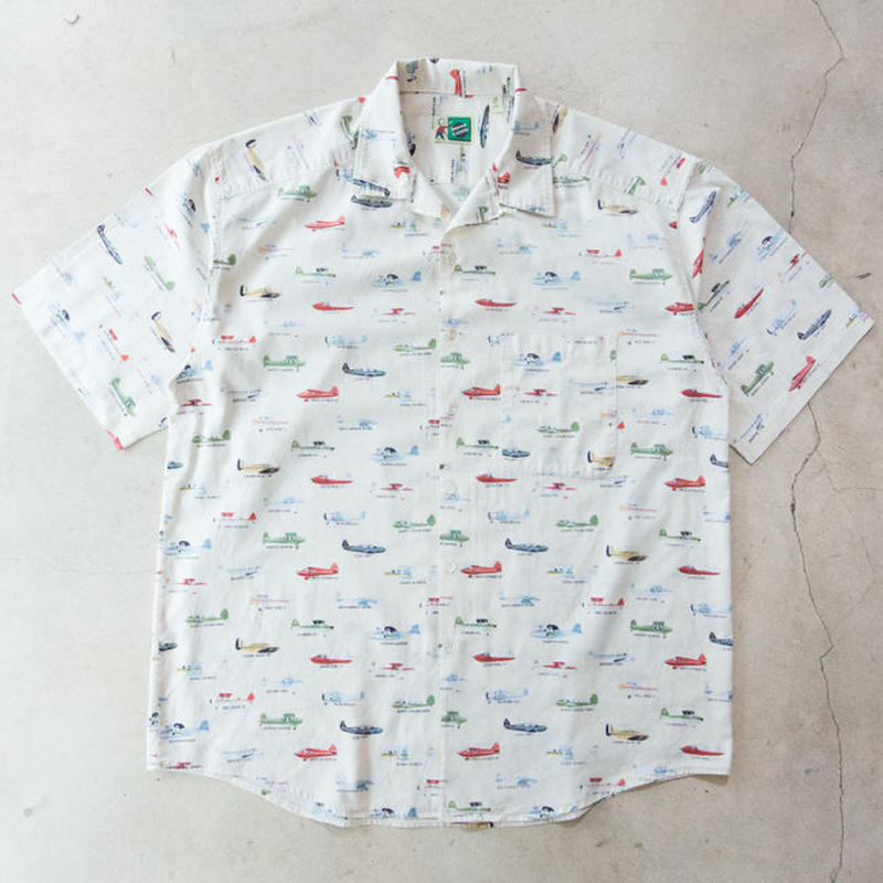 US製 Johnny Cotton Light Aircraft S/S Shirts アメリカ製 軽飛行機
