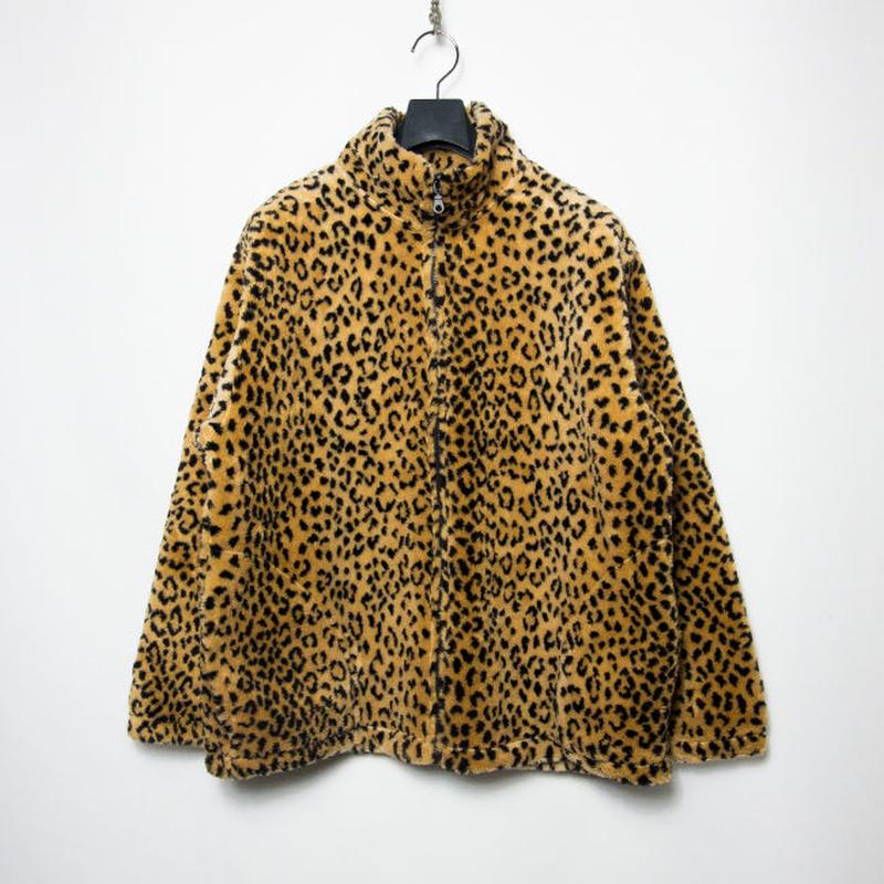USA製 BLACK MOUNTAIN Full Zip Leopard Fake Fur Jacket