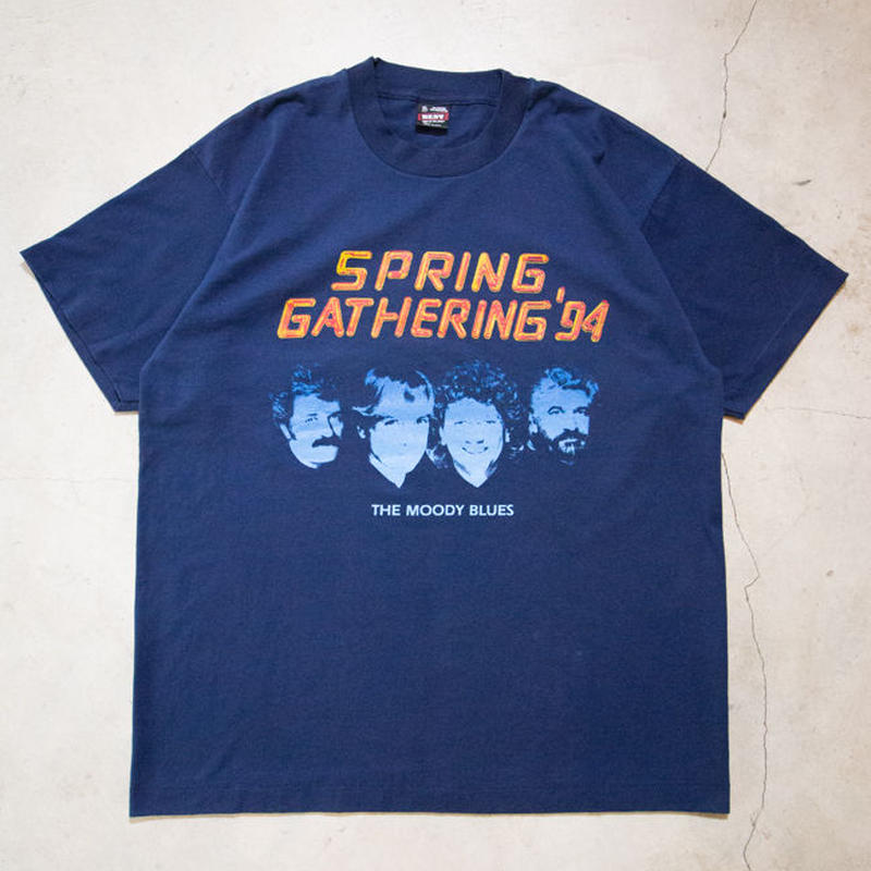 "NOS '94 Moody Blues ""Spring Gathering '94"" S/S T-shirts ムーディ・ブルース アバッキオ"