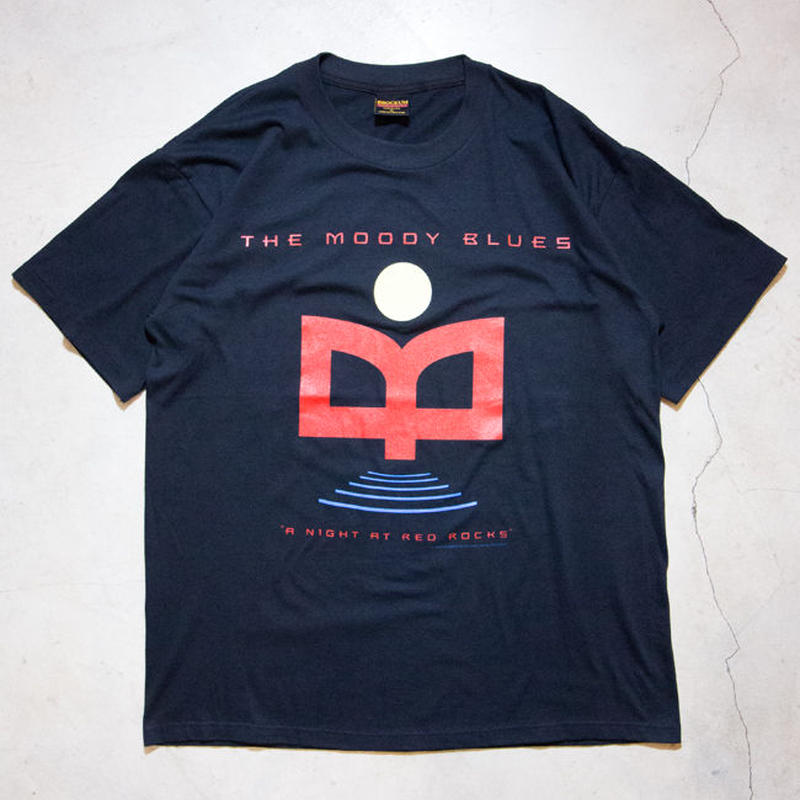 "NOS '93 Moody Blues ""A Night At Red Rocks"" S/S T-shirts ムーディ・ブルース アバッキオ"
