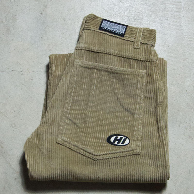 NOS 90's HI CUTLINE Fat Corduroy Baggy Pants スケートボード