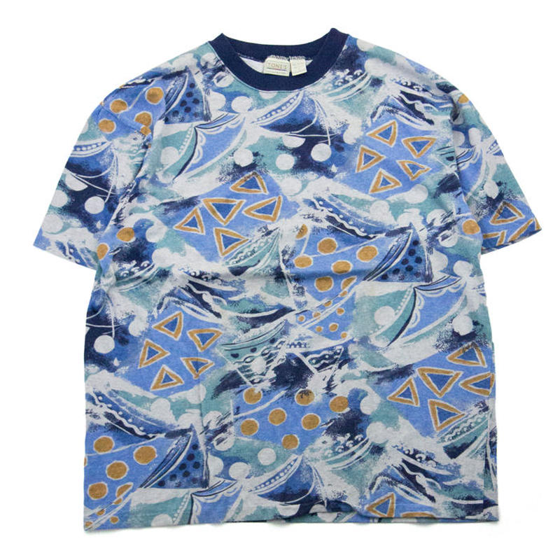 NOS Vintage TONES 総柄Tシャツ デッドストック アメリカ製