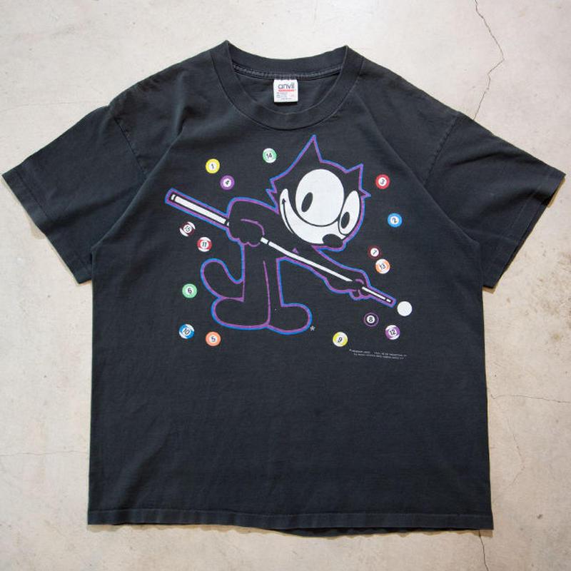 90's FELIX Billiard S/S T-shirts フィリックス・ザ・キャット