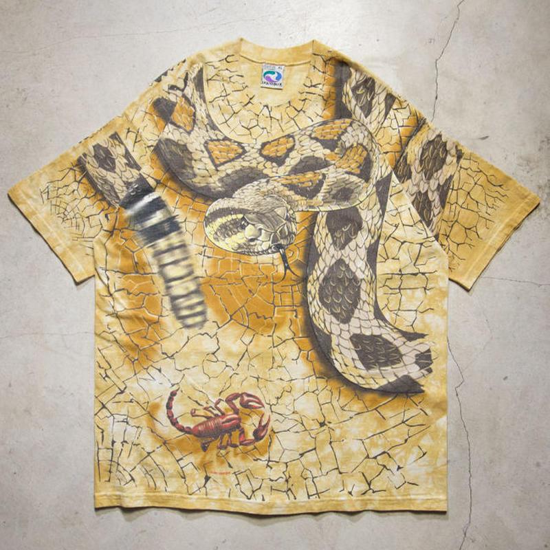 "'96 Liquid Blue ""Snake, Scorpion & Spider"" Tye-Dye S/S T-shirts リキッドブルー XL"