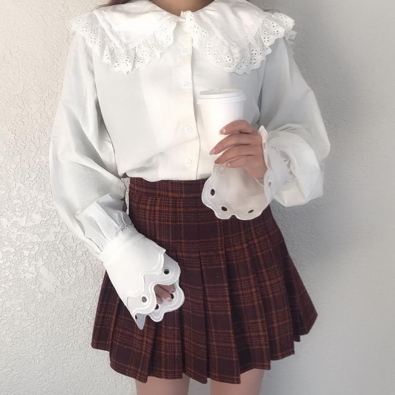赤チェックミニプリーツスカート
