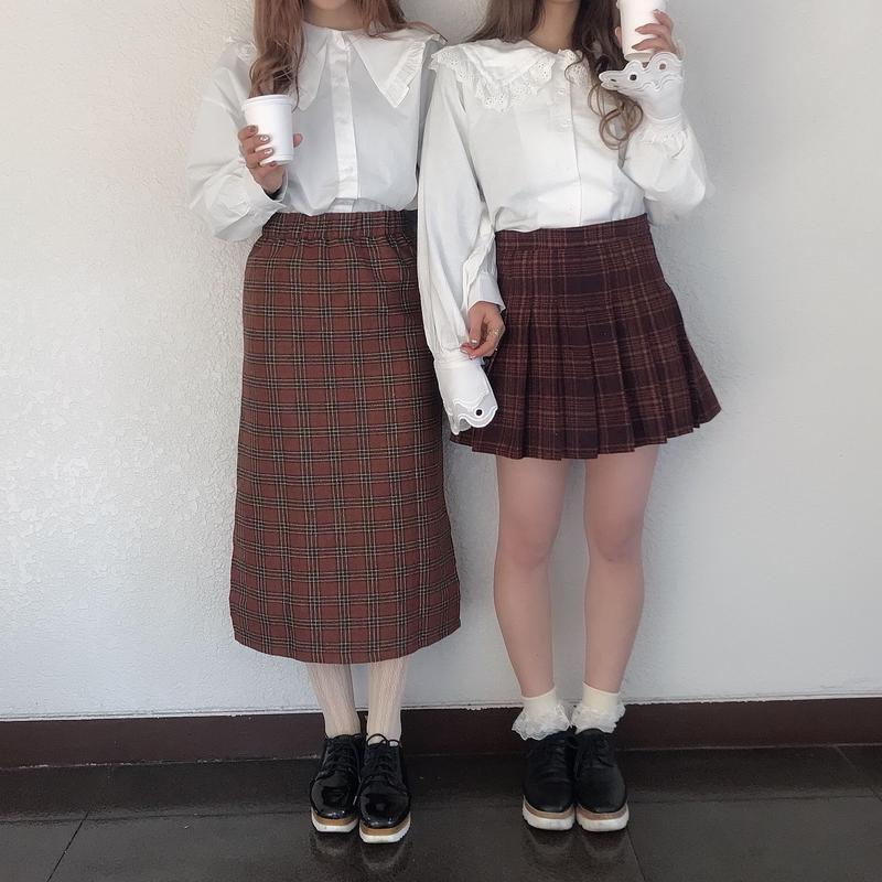 タータンチェックタイトスカート