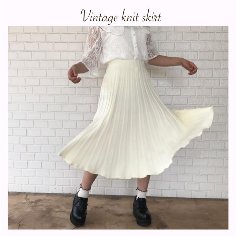 エレガントニットスカート