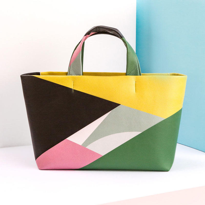 Mini Tote Bag - Pattern GRBK