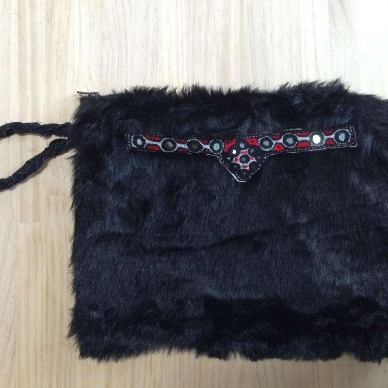 Fake Fur clutch bag (organic cotton 100%)