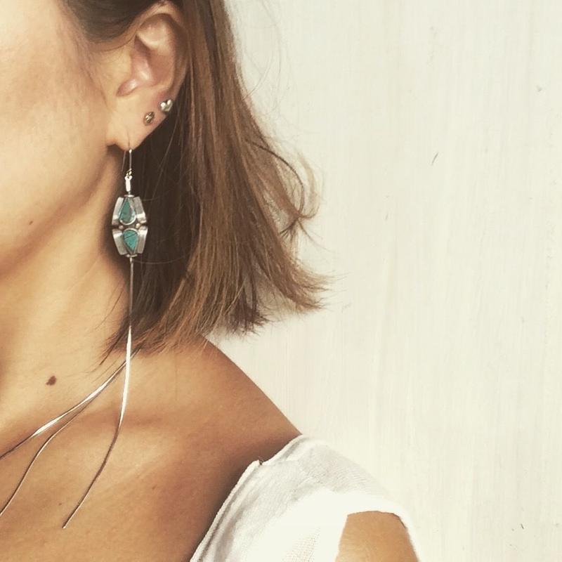 Craft beads earrings