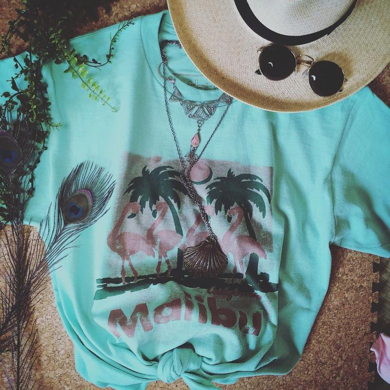 Vintage Malibu pt T shirts