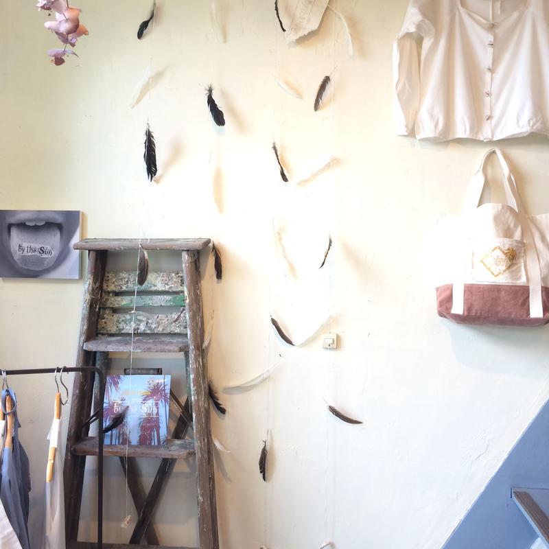 Feather curtain