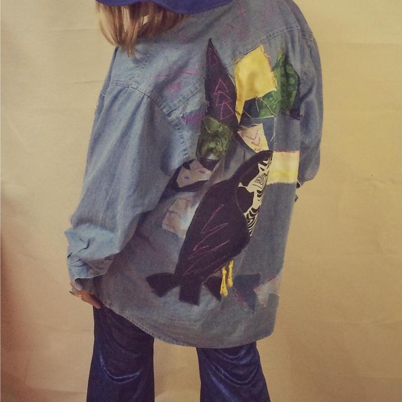 Parrot remake denim jacket