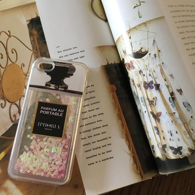 【即納】iPhone7香水瓶ラメケース