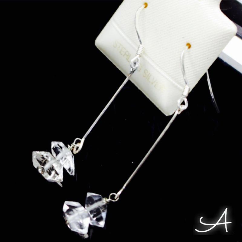 【夢の実現】ハーキマーダイヤモンドのピアス☆2種類