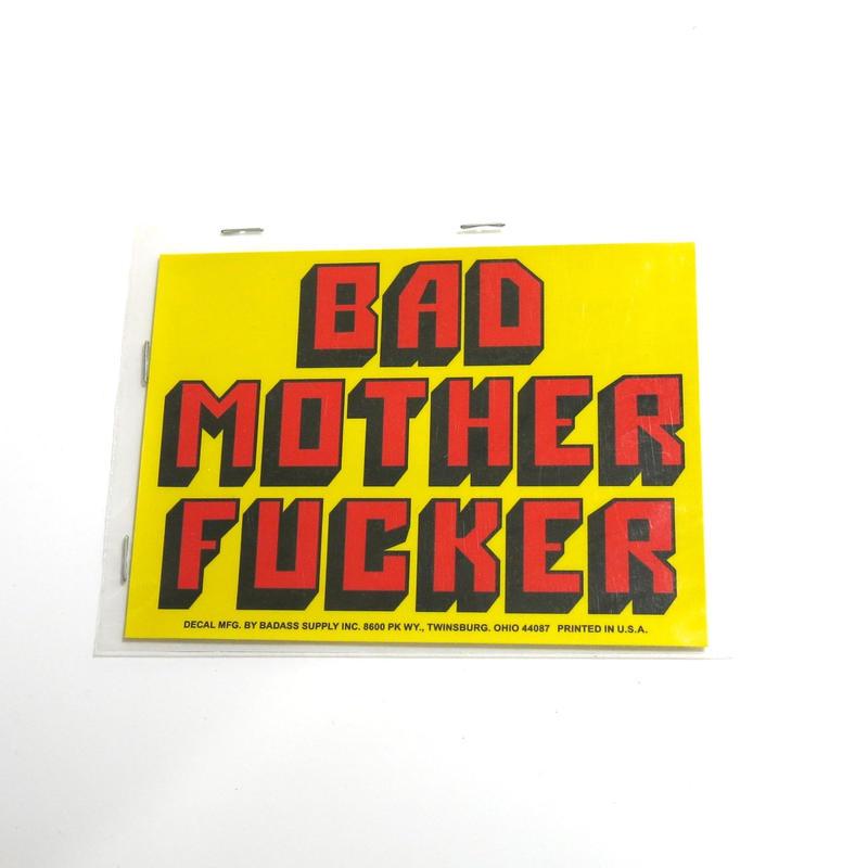 ステッカー:BAD MOTHER FUCKER