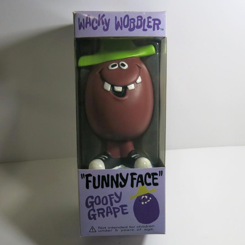 Funko -Wacky Wobbler-Bobble Head(ボビングヘッド):ファニーフェイス  グレープ