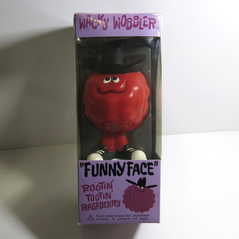 Funko -Wacky Wobbler-Bobble Head(ボビングヘッド):ファニーフェイス ラズベリー