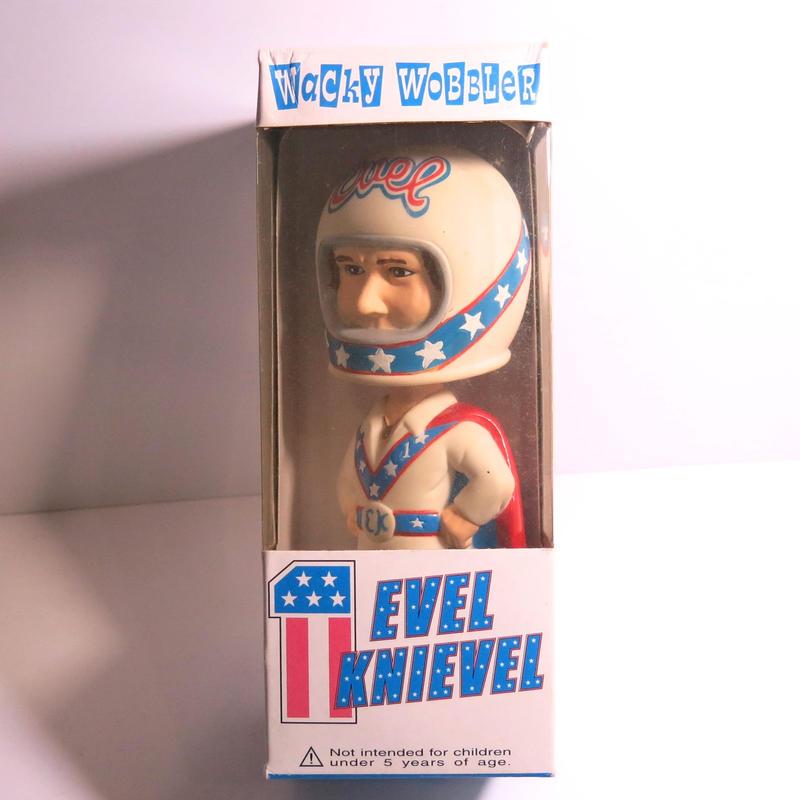 Funko -Wacky Wobbler-Bobble Head(ボビングヘッド):EVEL  KNIEVEL