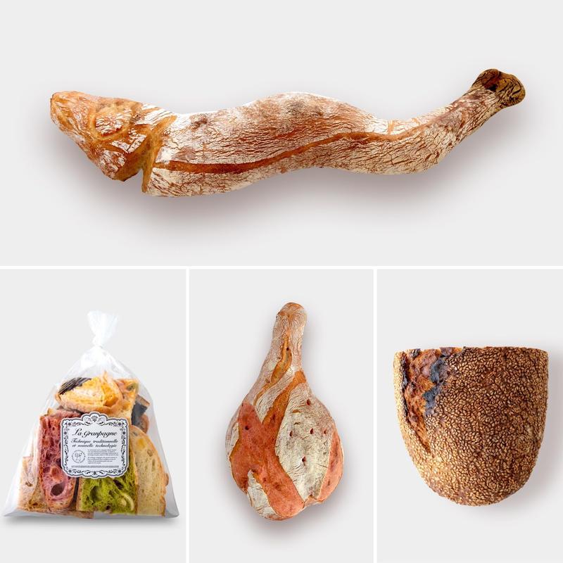 グランパーニュ、煮干しパン、熟成肉パンのお試しセット