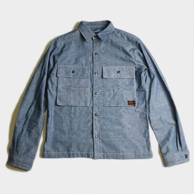 BIG POCKET CHAMBRAY SHIRTS (INDIGO)