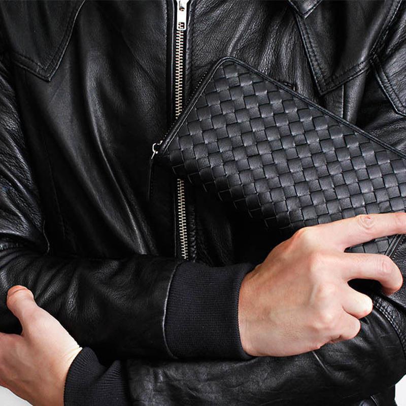 100%正規■TOP羊革 編込 ラウンド財布 高級 共箱 6色■品質保証^^