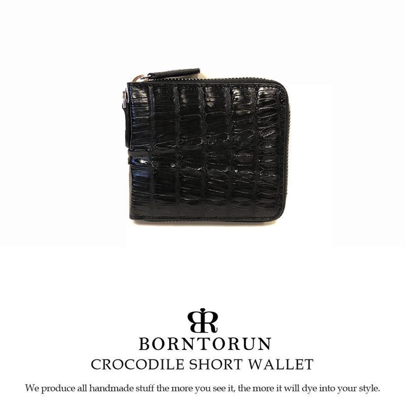 COROCODILE   ワニ革ラウンド短財布