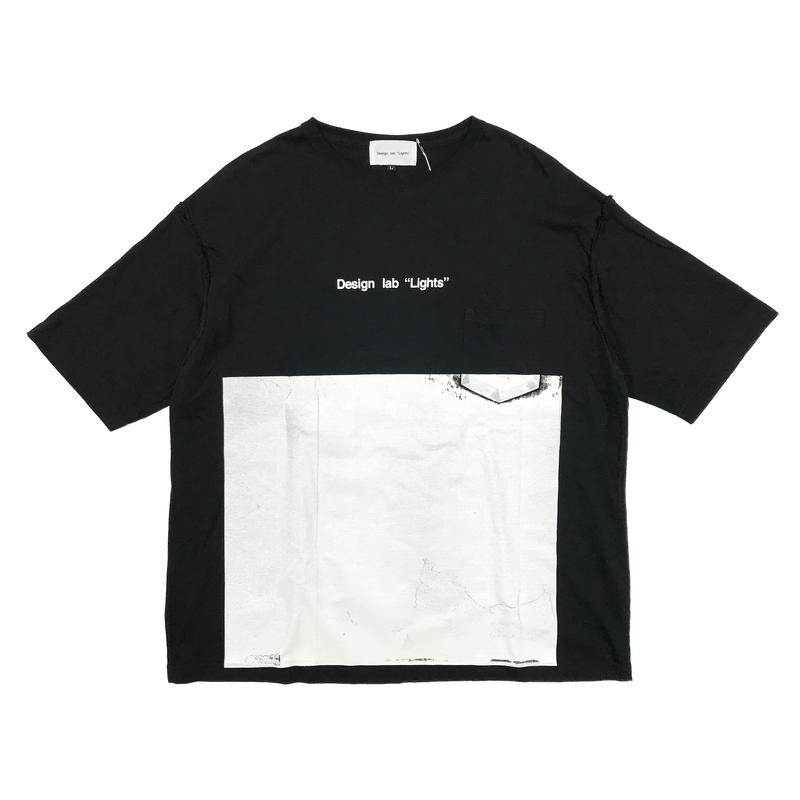 logo wall tee (black)