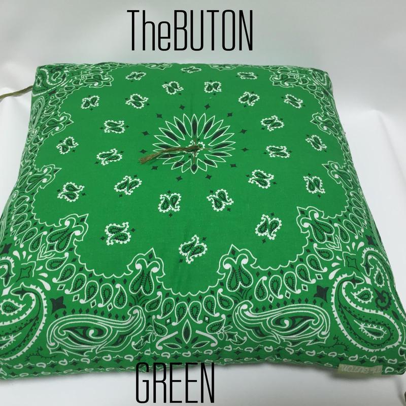 TheBUTON BANDANA GREEN