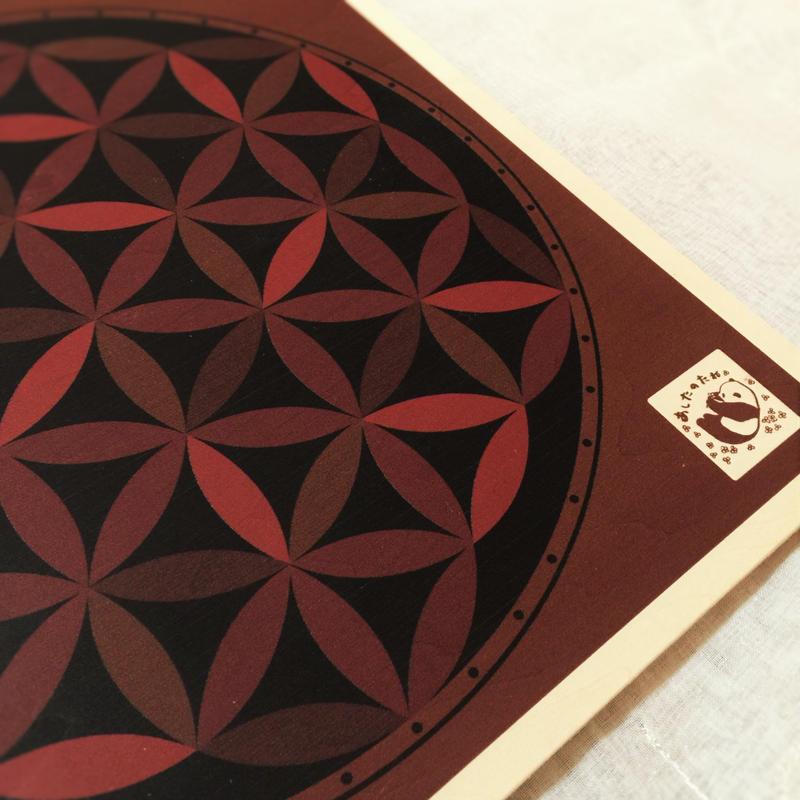 (30㎝)糸かけ曼荼羅専用ボード・3枚セット「あしたのたね」オリジナル