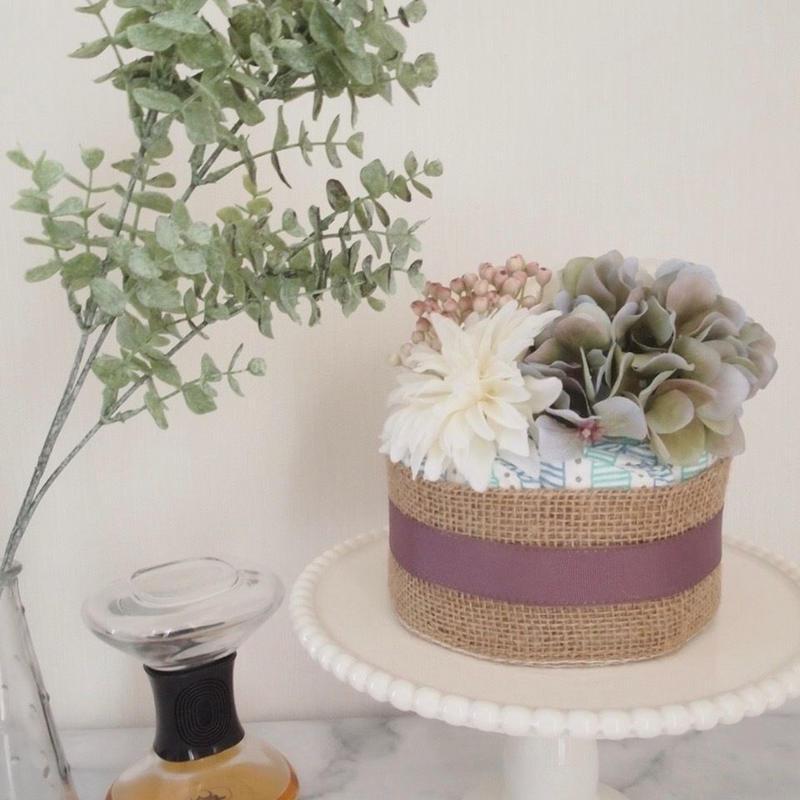 おむつケーキ1段『Botanical  Mini』