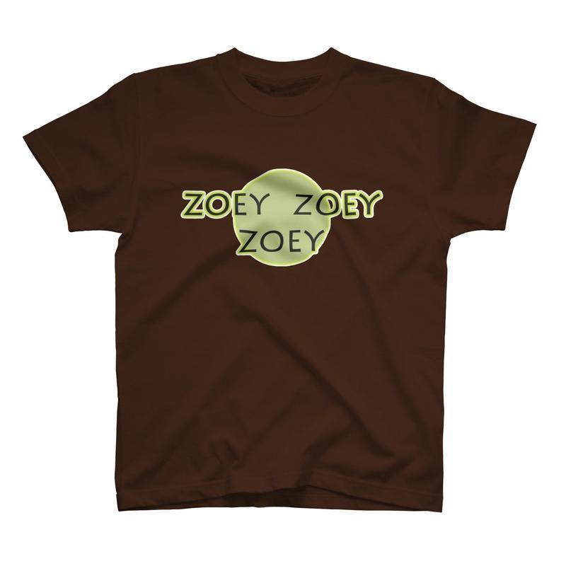ZOEYオリジナルTシャツ ダークブラウン