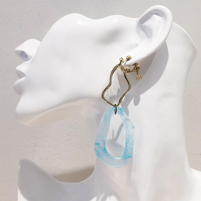 LINK earring #458(金属アレルギー対応)  ※代引不可