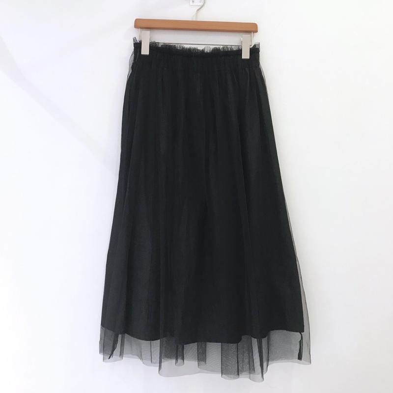 00◯◯ チュール付きスカート / 1903-09