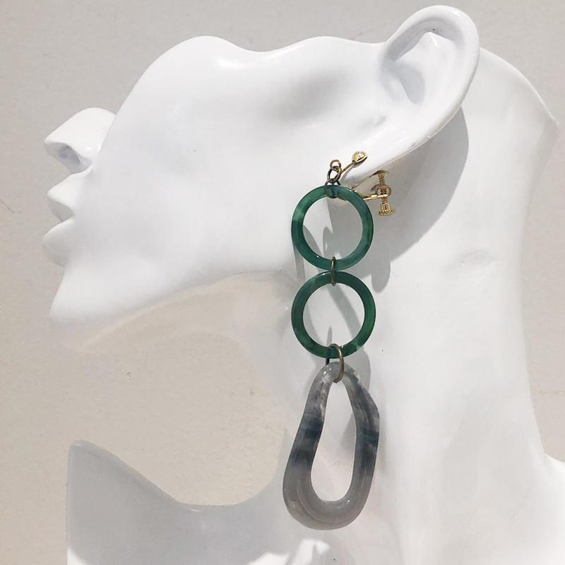 LINK earring #445(金属アレルギー対応)  ※代引不可