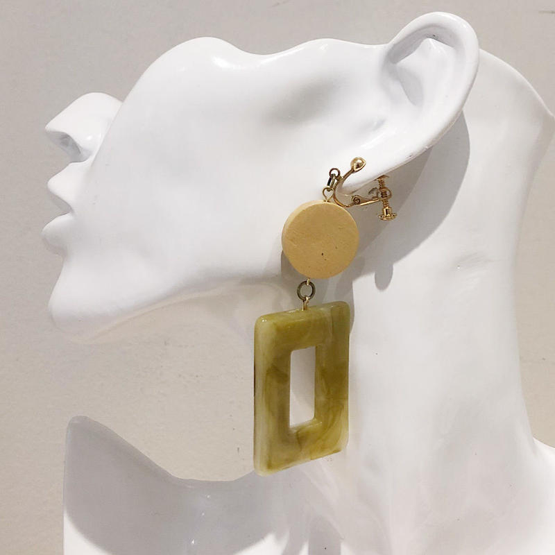 LINK earring #396(金属アレルギー対応)  ※代引不可