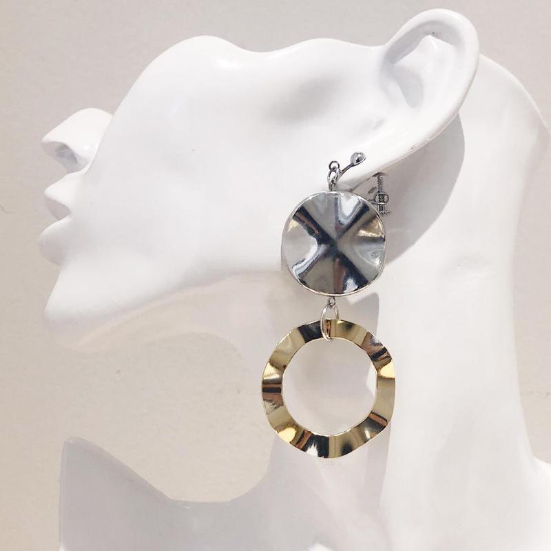 LINK earring #446(金属アレルギー対応)  ※代引不可