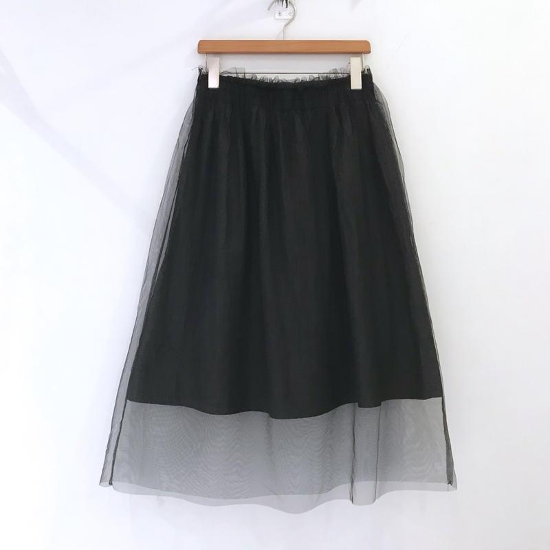 00◯◯ チュール付きスカート / 1903-35