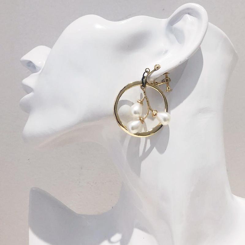 LINK earring #435(金属アレルギー対応)  ※代引不可