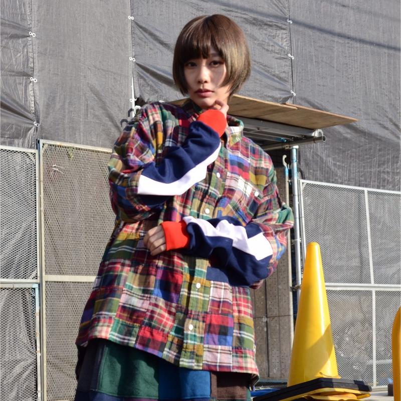 00○○ パッチワークシャツ /1902-148