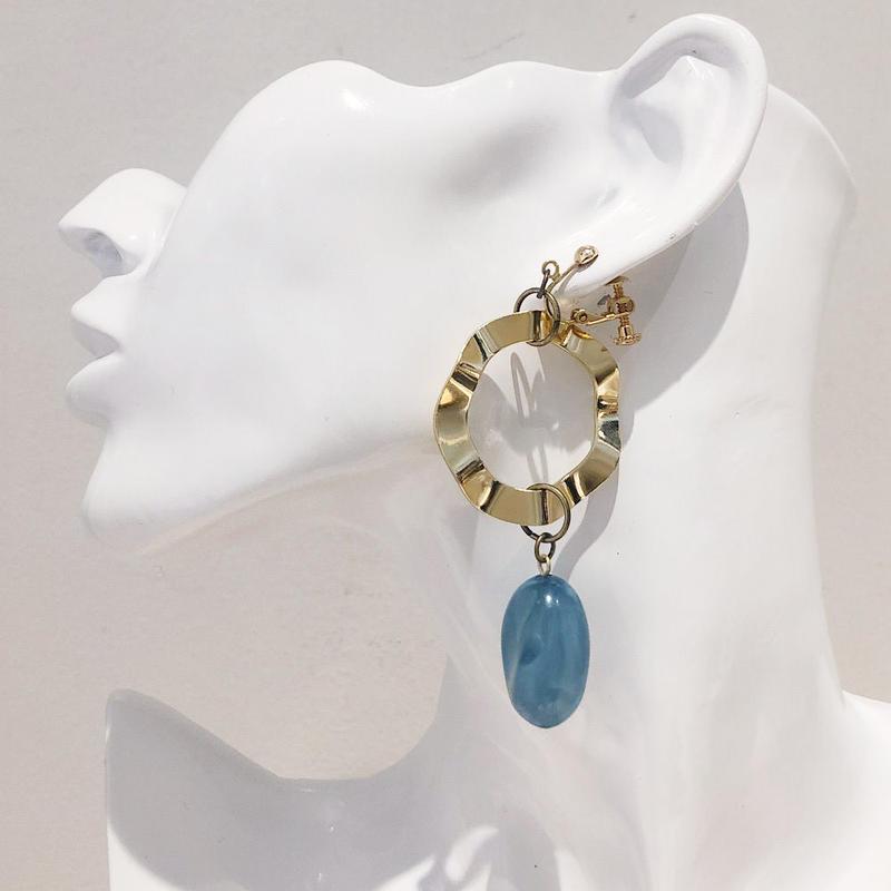 LINK earring #418(金属アレルギー対応)  ※代引不可
