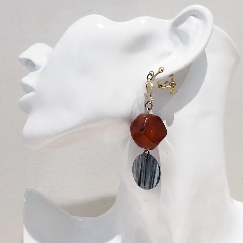 LINK earring #457(金属アレルギー対応)  ※代引不可