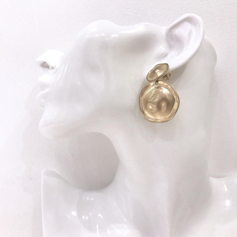 double design plate pierce  / 06 #GOLD ※代引不可
