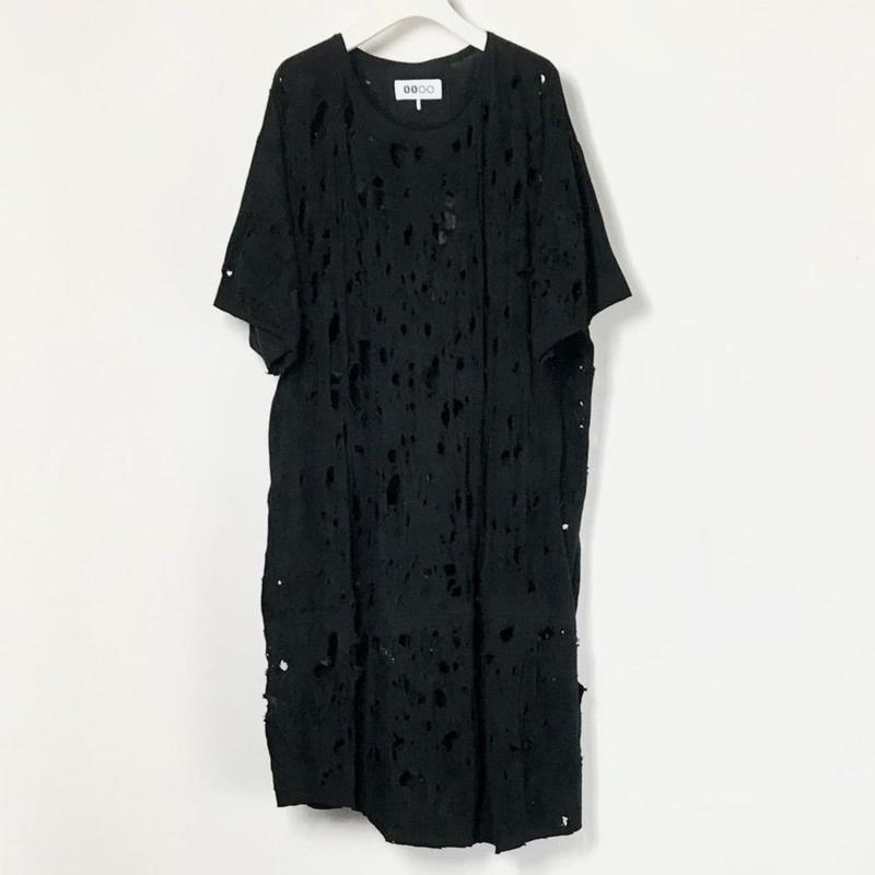 00○○ ダメージカットソー / 1807-100 BLACK