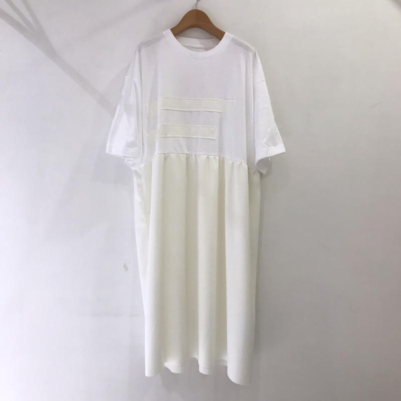 00○○ 切替えワンピース(ロングスカート ギャザーver. ) /1903-50