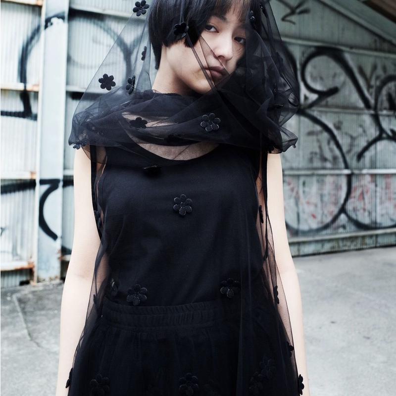 00○○ チュールワンピース /1903-25 BLACK