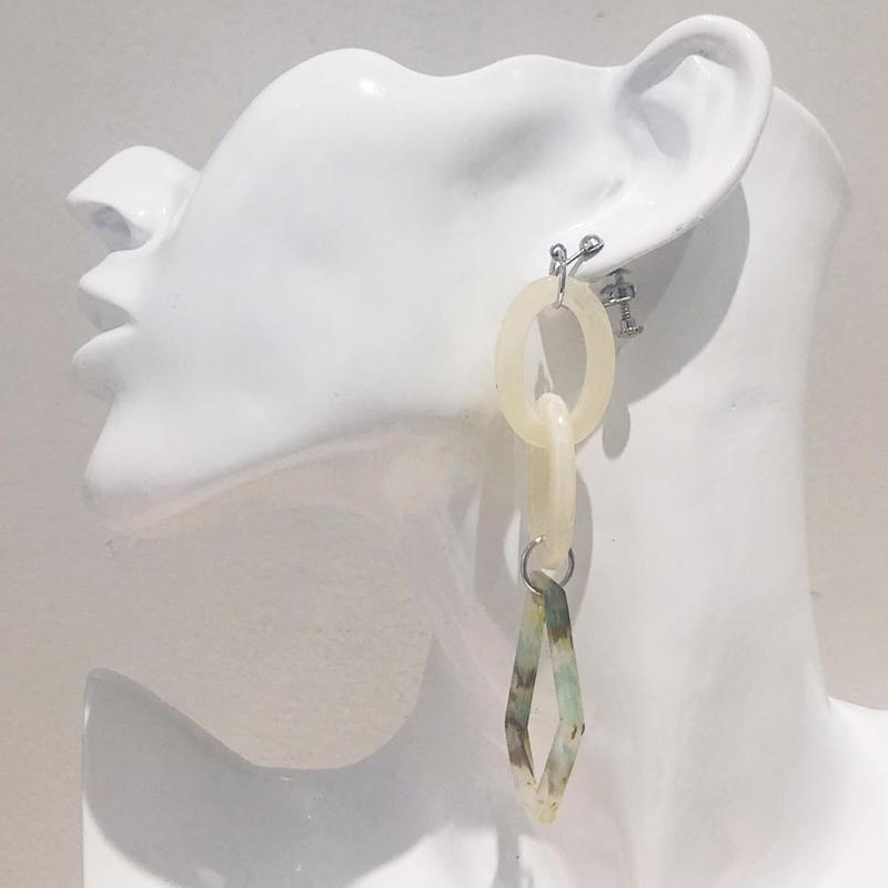 LINK earring #409(金属アレルギー対応)  ※代引不可