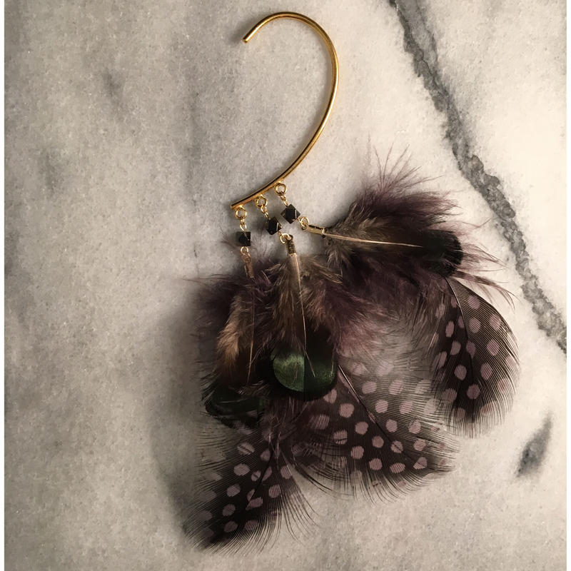 feather earhook
