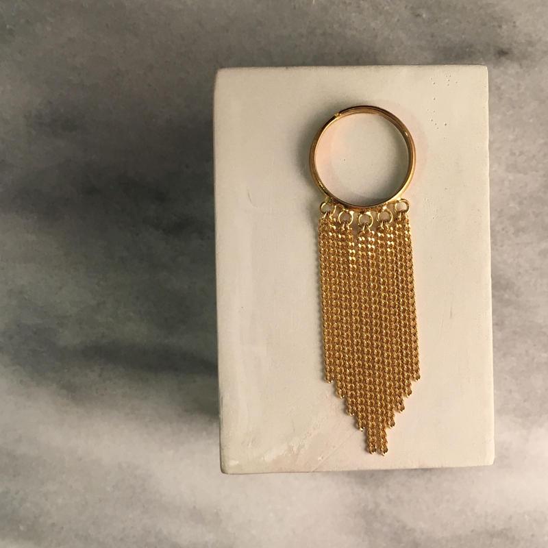chain fringe ring