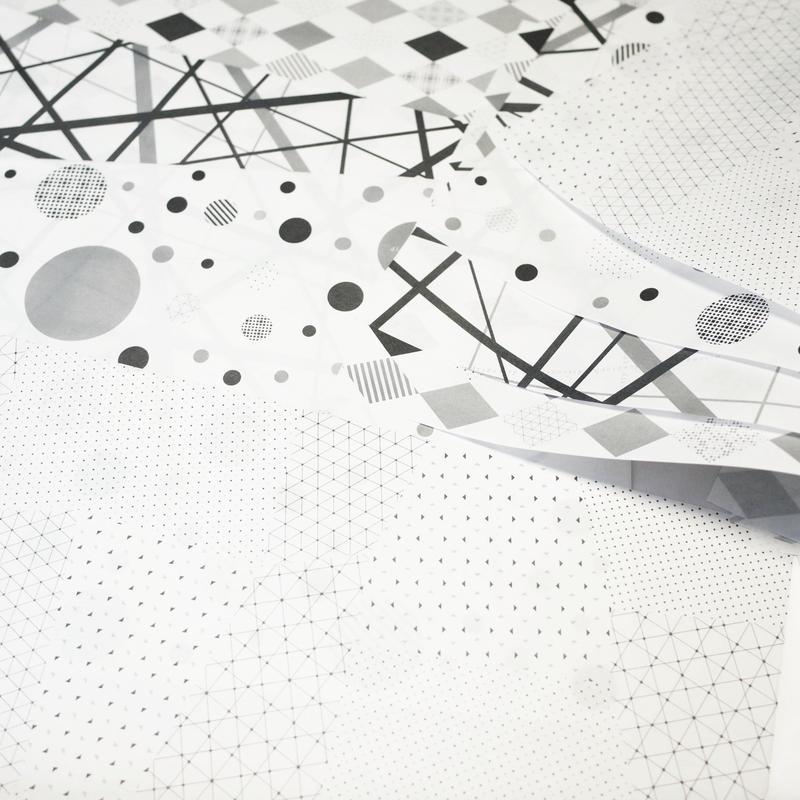 ラッピングペーパーセット 幾何学模様【geo-graphics】